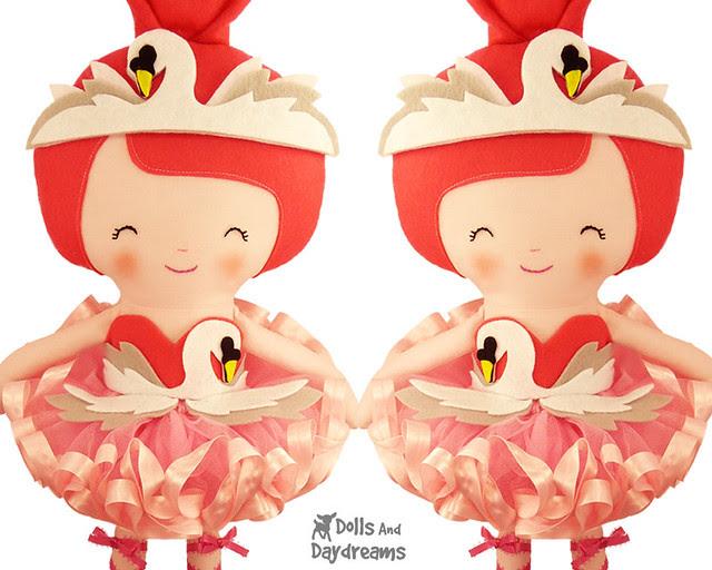 Swan Lake Ballerina Doll Tutu Dress Tutorial Sewing Pattern How to DIY copy