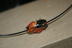 Faux Lampwork bead made of Kato polyclay