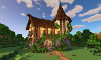 How To Build A Castle Minecraft Tutorial Medieval Castle Part 5 Bluenerd