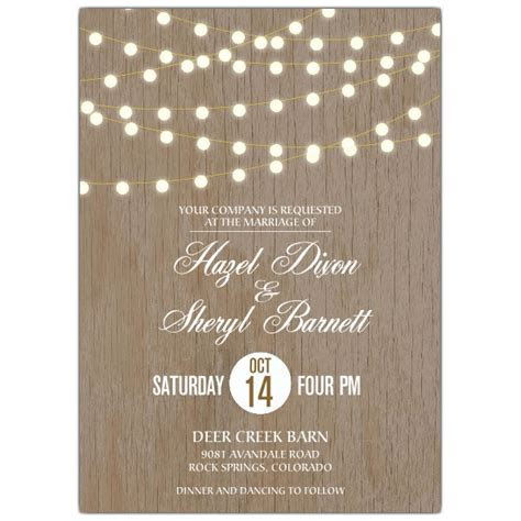 Under The Lights Lesbian Wedding Invitations   PaperStyle