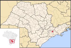 English: Map locator of São Paulo's Guarulhos ...