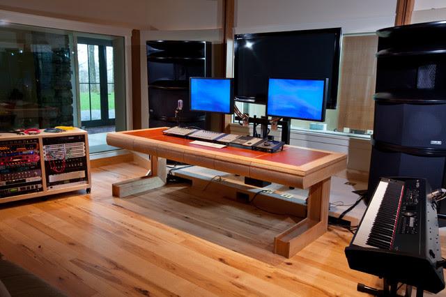 Recording Studio Desk - Modern - burlington - by Pomerantz Woodworking