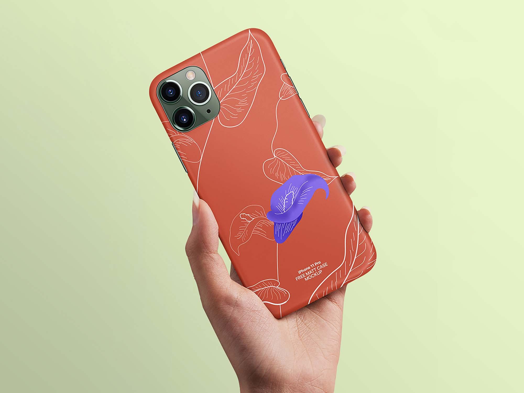 Free Iphone 11 Pro Case Mockup Psd