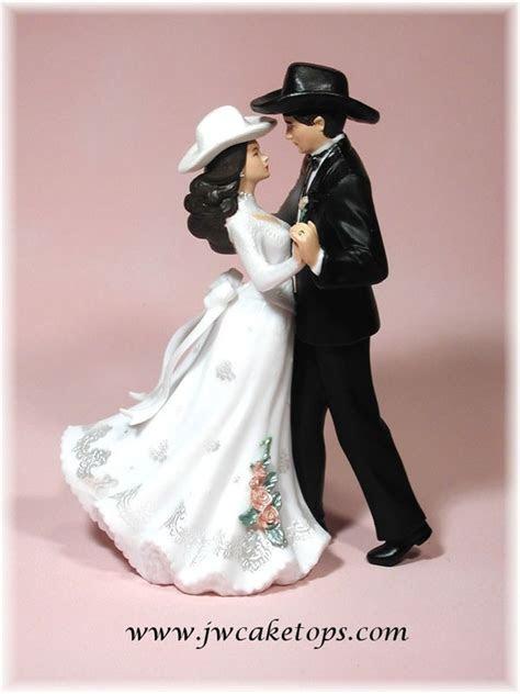 First Dance Western Wedding Cake Top Bride Groom Couple