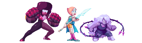 The Pixel Crystal Gems