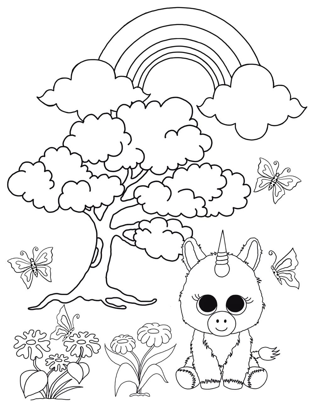 66 Unicorn Cat Coloring Pages For Free