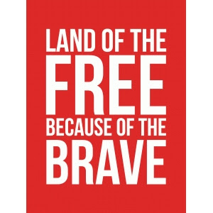Silhouette Design Store Land Of The Free 3x4 Quote Card