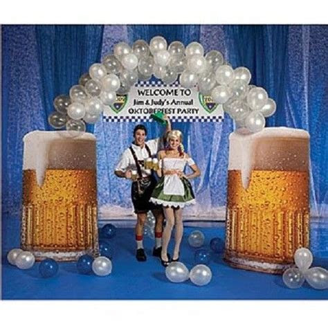 beer balloon arch german oktoberfest party decorations