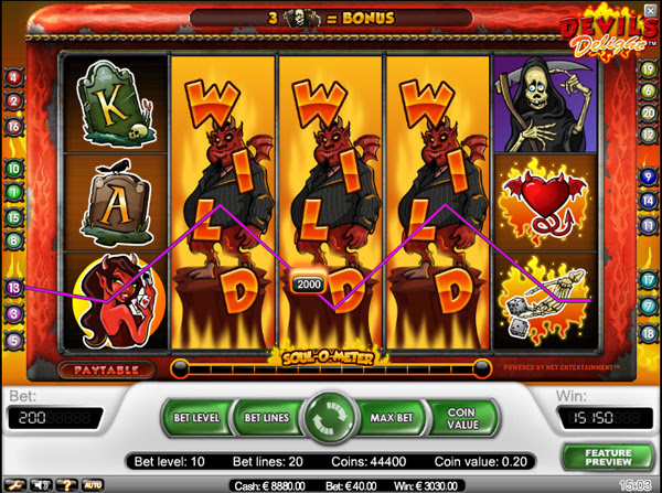 If , the number of the antichrist or number of the beast intrigue you, or you are just a big fan of horror themed video slots, Devil's Delight will most probably intrigue you as much as the three numbers do.Ok, maybe not that much, but this Netent video slot is one of the most filled video slot when it comes to extra features.Gölyaka