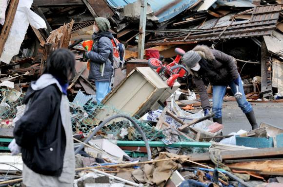 Massive Destruction from earthquake and tsunami in Japan