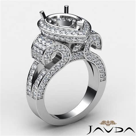 Diamond Engagement Ring Antique & Vintage Pear Semi Mount