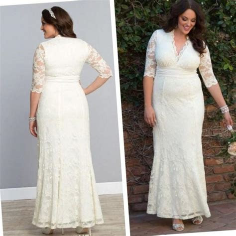 Simple wedding dress plus size   PlusLook.eu Collection
