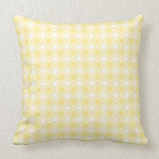 Yelow Polka Dot Pattern Pillow throwpillow