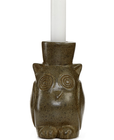 Heart of Haiti Owl Candle Holder