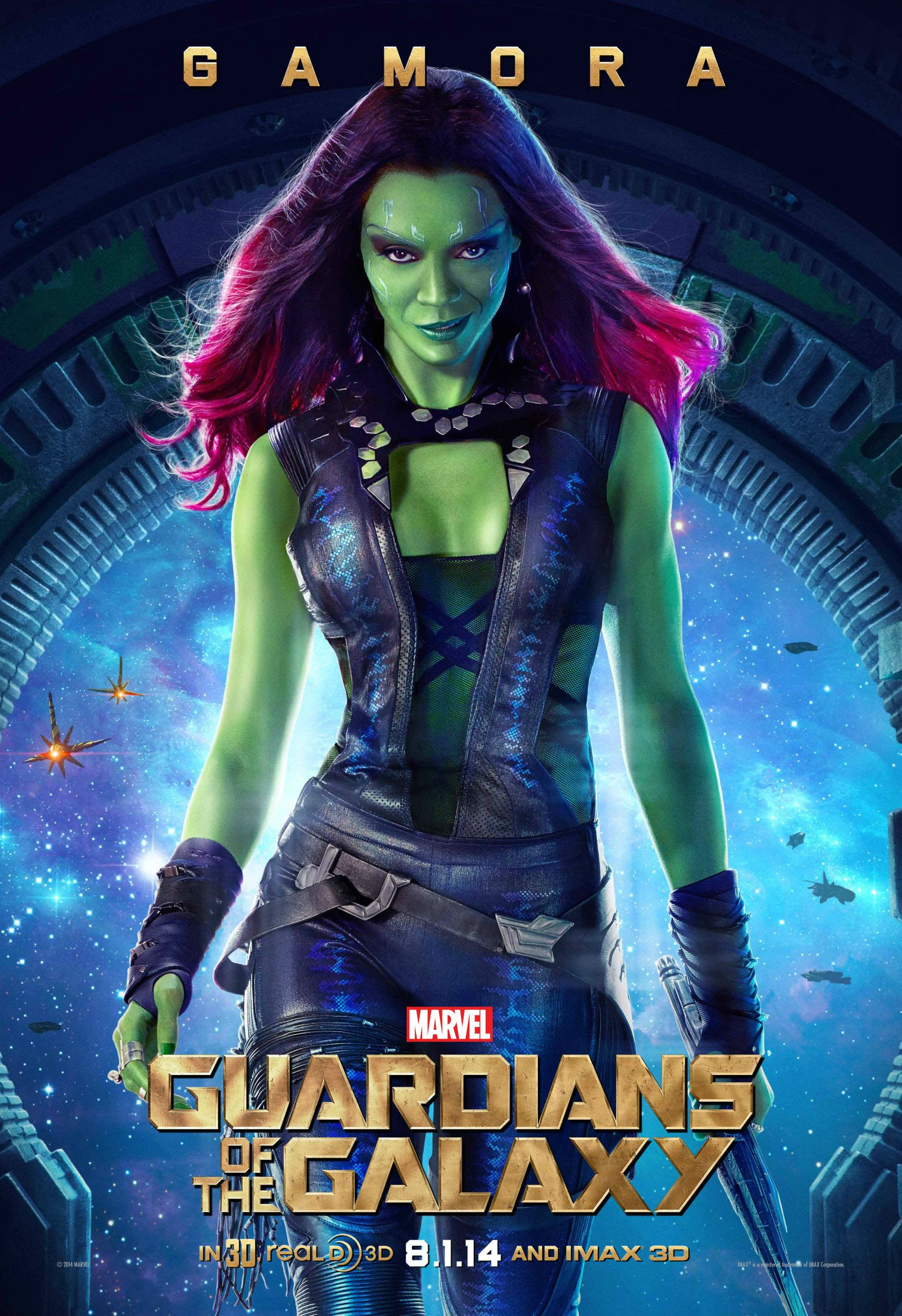 Poster Gamora Guardianes de la Galaxia