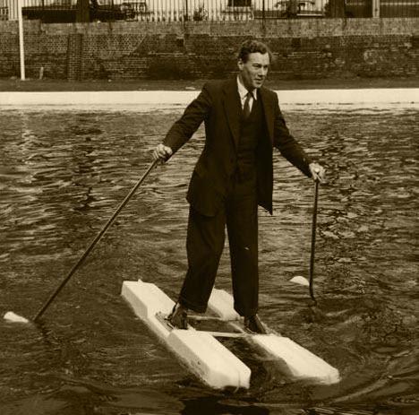 Esquis flutuadores