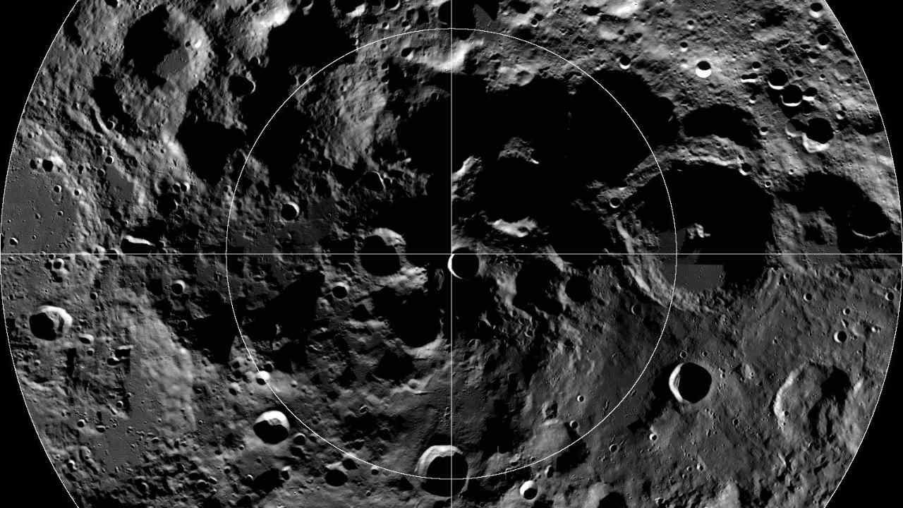 The International Astronomical Union has named a crater at the Moon's south pole after the Arctic explorer Matthew Henson. Image credit: NASA