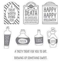 Sweet Hauntings Wood-Mount Stamp Set