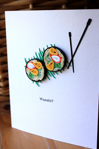 Quilled Sushi Card