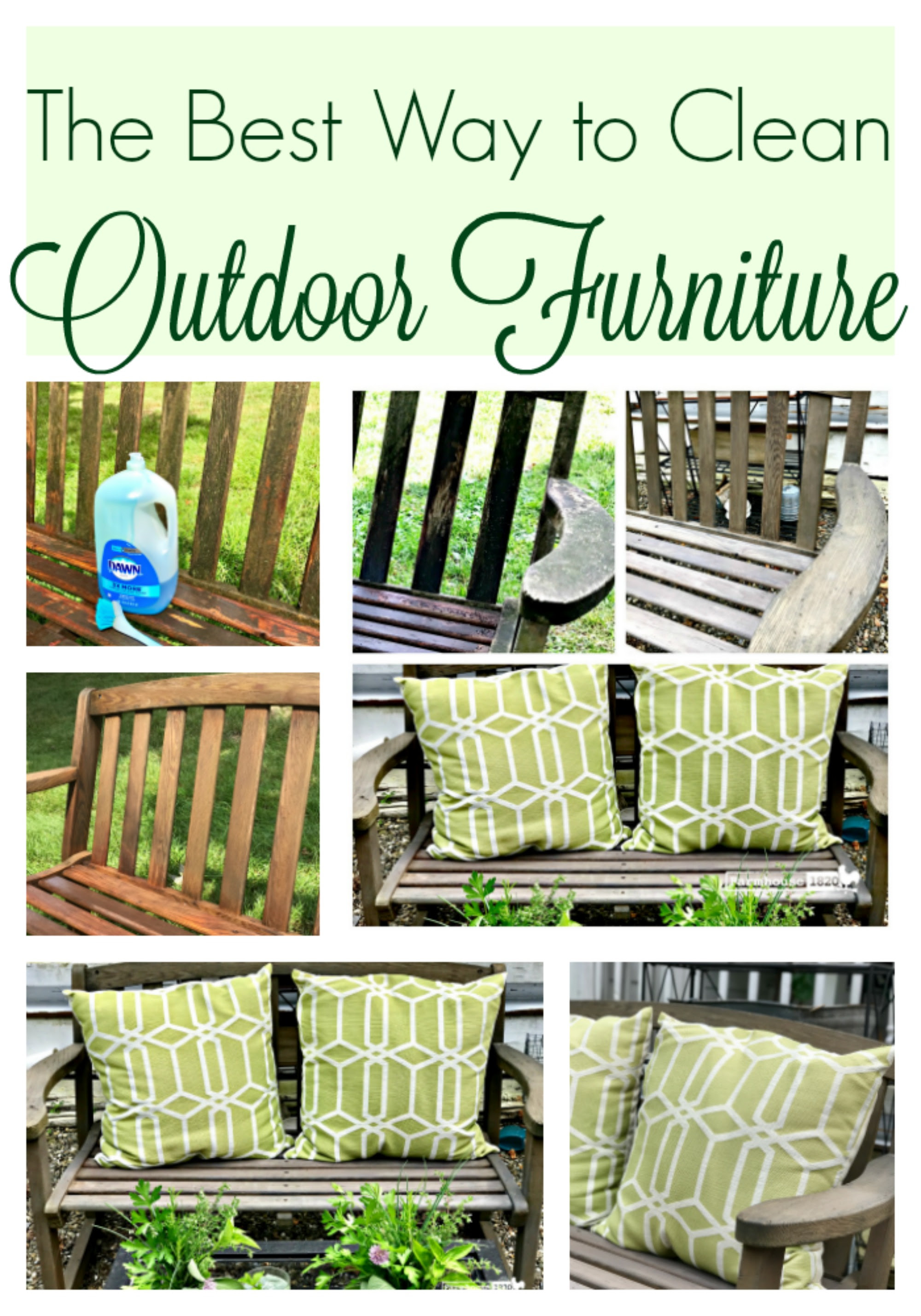 The Best Way To Clean Outdoor Furniture - Farmhouse 1820