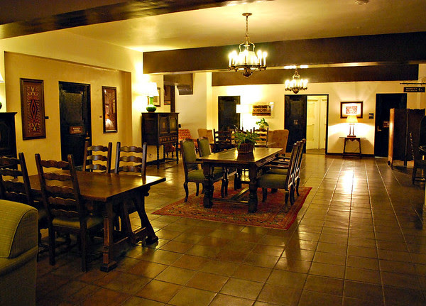 The Mezzanine Level Lounge at the Ahwahnee Hotel