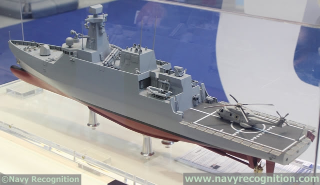 Empresa de construcción naval española Navantia presentó su AVANTE 1800 corbeta durante DIMDEX 2014, la Internacional Maritime Defensa Exhibición y Conferencia de Doha, que se celebró entre el 25 a 27 marzo 2014 en Qatar.