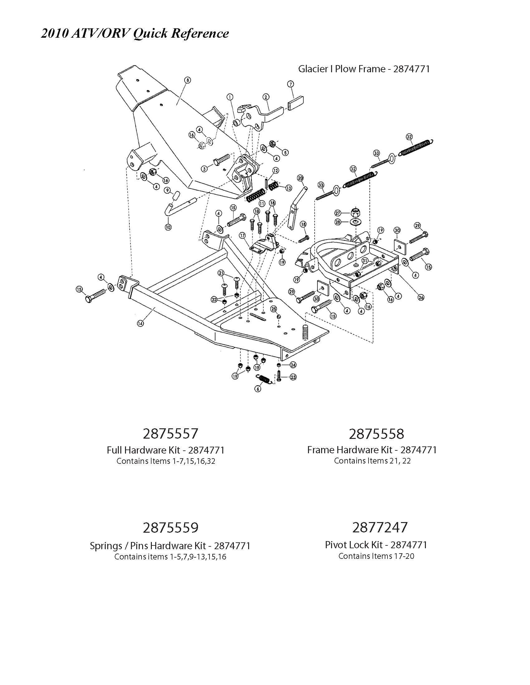 31 Polaris Glacier Plow Parts Diagram