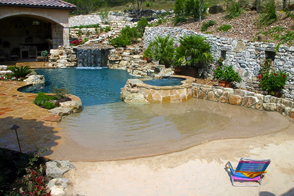 beachfront entry pool by keith zars pools