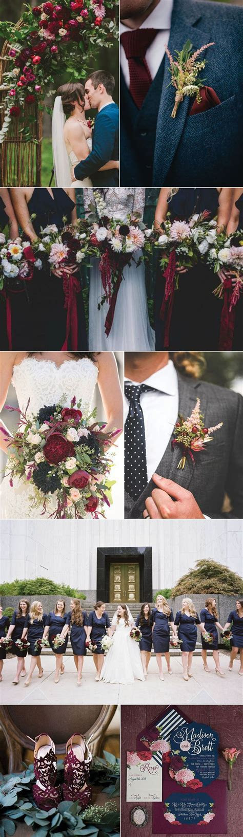 Ideas for a Marsala and Navy Blue Wedding   Wedding Color