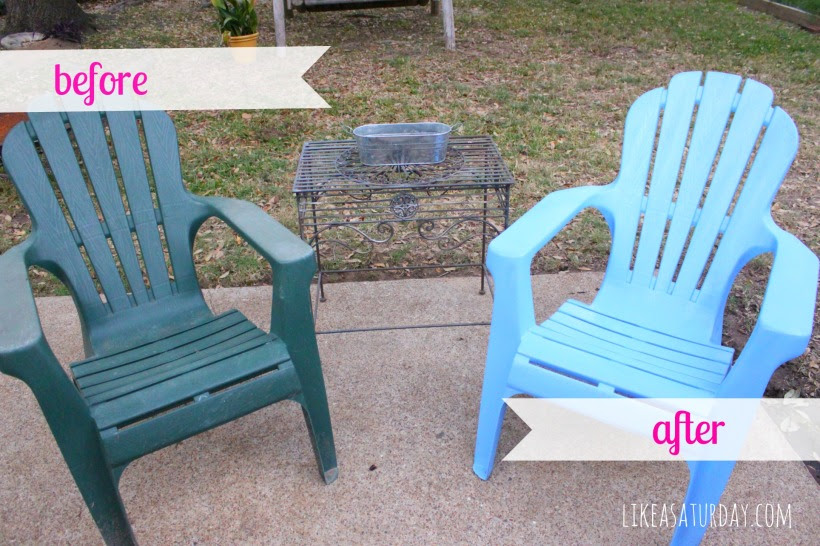 spray paint patio chairs : like a saturday
