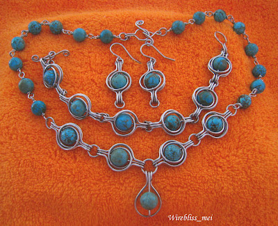 Wire Wrap Turquoise Pendant