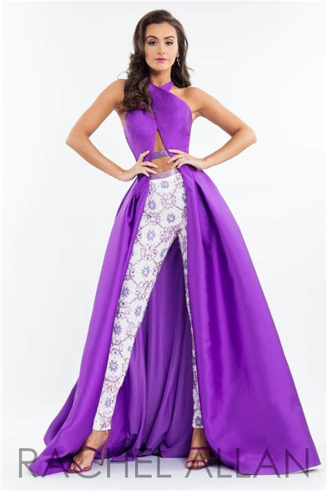 rachel allan  prom gown  pants french novelty