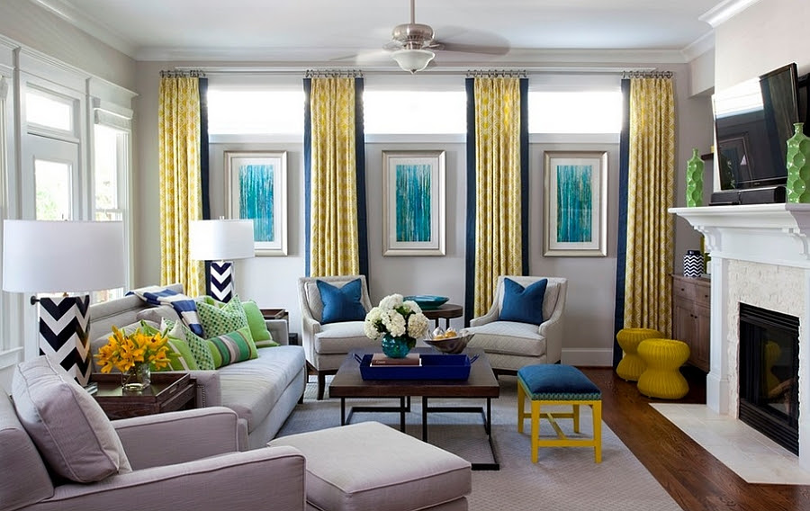 Add a dash of green along with yellow and blue