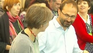 Dolors Camats i Joan Herrera en l'assemblea d'Iniciativa