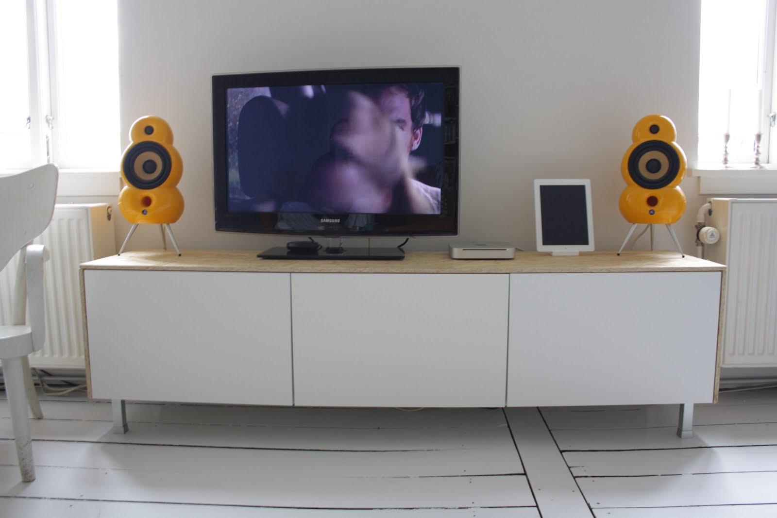 Clean, sleek media console from Besta - IKEA Hackers