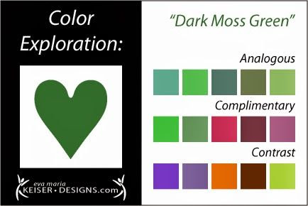 Eva Maria Keiser Designs: Explore Color: Dark Moss Green
