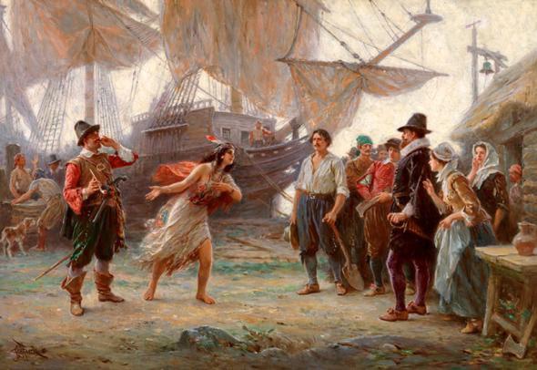 Pocahontas wedding re-enactment: John Rolfe, John Smith ...