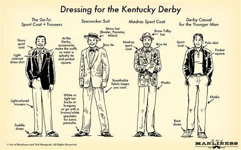 men  dress   kentucky derb  visual guide