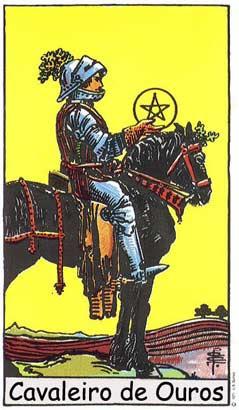 Cavaleiro de Ouros no Tarô Rider-Waite-Smith