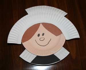 Preschool crafts for kids thanksgiving pilgrim girl for Pre k turkey crafts