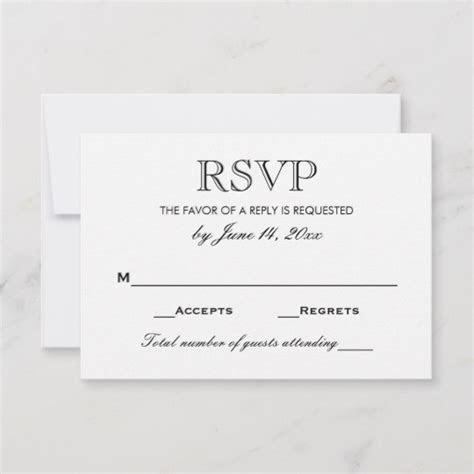 Wedding RSVP Card   Black and White   Zazzle.com