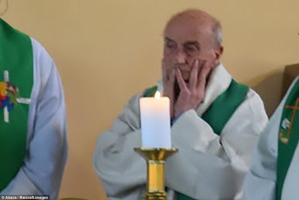 Archbishop Dominique Lebrun of Rouen later confirmed that Father Jacques Hamel (pictured) had been killed in the attack this morning