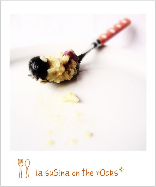 risotto arancia, bresaola, taleggio e olive