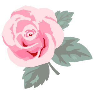 バラの花素材47 花植物イラスト Flode Illustration フロデイラスト