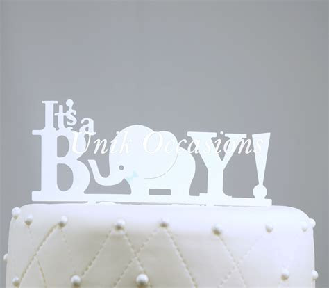 Unik Occasions It's A Boy Acrylic Baby Shower Cake Topper
