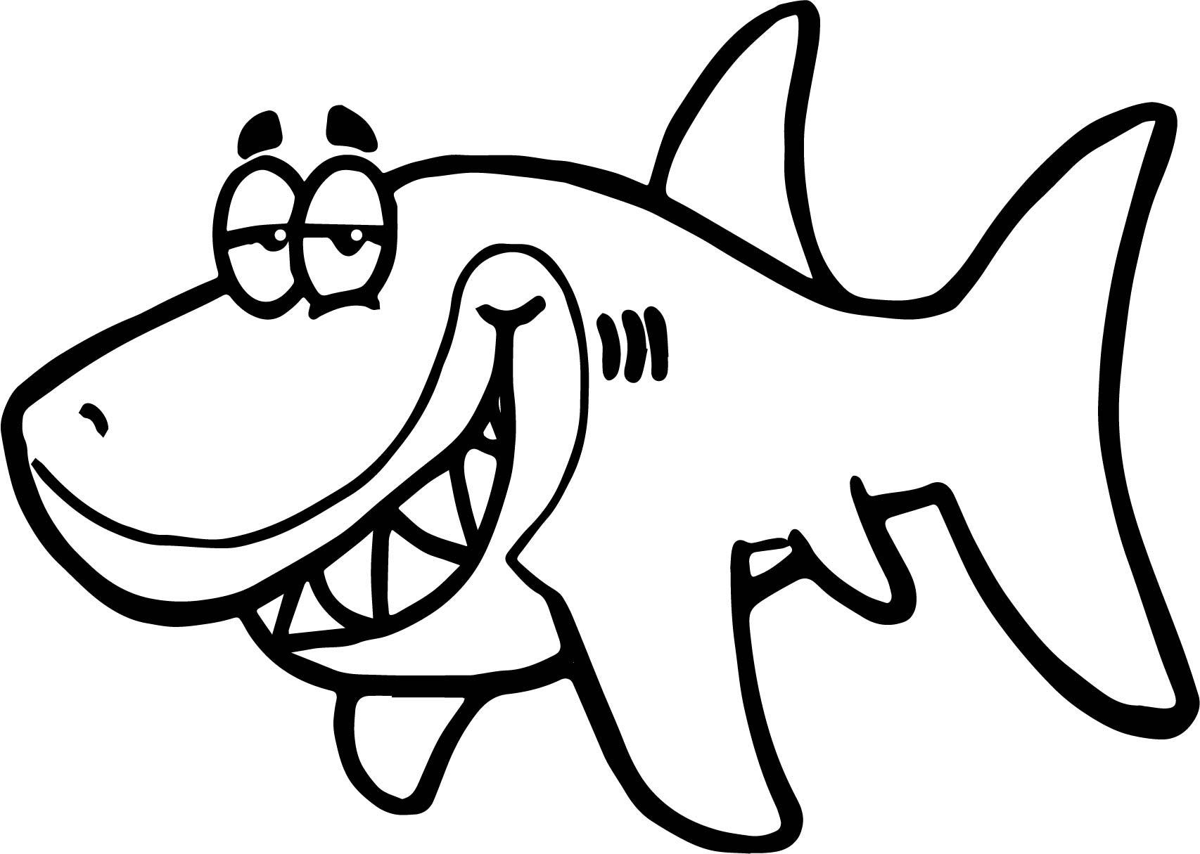 Cartoon Shark Funny Fish Paper Invitation Underwater ...