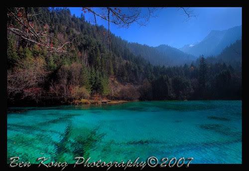 Colored pools of Jiuzhaigou, Sichuan province,China.