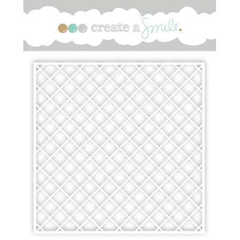 Create A Smile DIAGONAL GRID Stencil SCS13