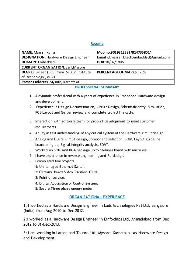 pcb layout engineer resume sample  circuit boards