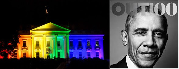 "Another Dubious Obama LGBT ""First"": Barack Obama is obviously the first U.S. President to turn the White House--the people's house--into a symbol of homosexual-bisexual-transgender activism. The rainbow has been appropriated by the LGBTQ movement as the symbol of their sin movement."